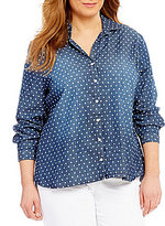 Westbound Plus Long Sleeve Hi-Low Button Front Shirt