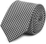 Reiss Reiss Leroy - Silk Houndstooth Tie In Black