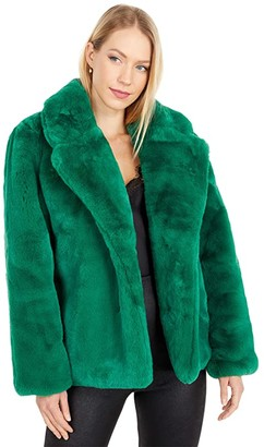 Apparis Manon Faux Fur Coat (Vardent Green) Women's Jacket