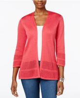 JM Collection Open-Knit Cardigan, Only at Macy's