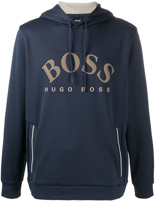 HUGO BOSS Logo-Print Hooded Sweatshirt