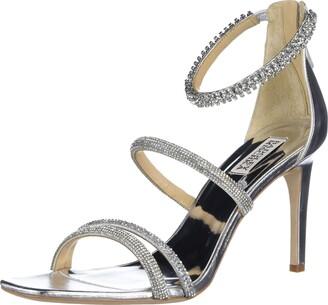Badgley Mischka Women's Back Zip Heeled Sandal