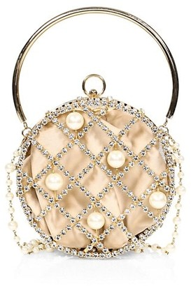 Rosantica Ines Embellished Circle Clutch
