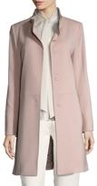 Cinzia Rocca Wool Stand Collar Coat