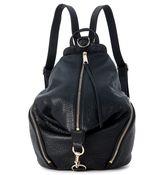 Rebecca Minkoff Backpack In Black Tumbled Leather
