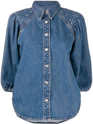 Ganni Snap-Button Fastening Denim Shirt