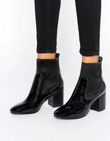 Asos REPRESENT Premium Leather Patent Chelsea Ankle Boots
