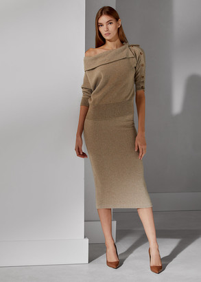 Ralph Lauren Herringbone Pencil Skirt