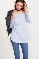 Dynamite Off-The-Shoulder Tunic with Tied Sleeves