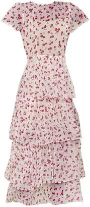 HVN Pink Brynn Tiered Gown