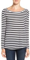 Hinge Women's Slouchy Stripe Boatneck Tee