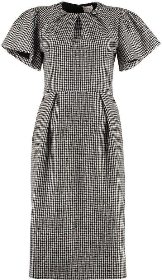 Alexander McQueen Houndstooth Sheath Dress