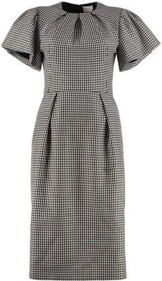 Alexander McQueen Houndstooth Sheath Dress