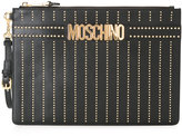 Moschino logo strap clutch - women - Leather/metal - One Size