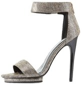 Charlotte Russe Qupid Shimmer Two-Piece Dress Sandals