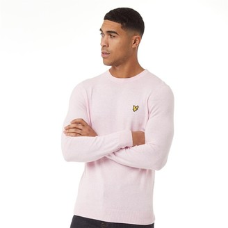 Lyle And Scott Vintage Mens Cotton Merino Crew Jumper Dusky Lilac Marl