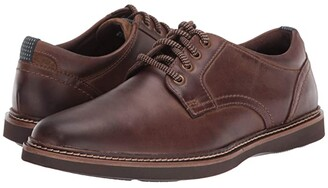 Nunn Bush Ridgetop Plain Toe Oxford (Brown CH) Men's Shoes