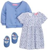 Isaac Mizrahi Floral Dress, Cardigan & Shoe Set (Baby Girls 0-9M)