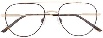 Calvin Klein Tortoiseshell Aviator Frame Glasses
