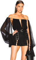 Thierry Mugler Open Sleeve Off Shoulder Blouse
