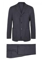 Lardini Indigo Herringbone Suit