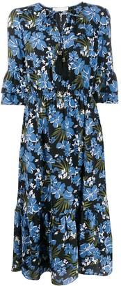 MICHAEL Michael Kors Floral Print Midi Dress