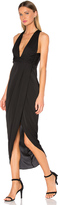 Shona Joy Monique Plunged Twist Maxi Dress