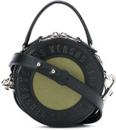 Versus logo embossed round tote - women - Cotton/Leather - One Size