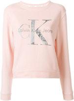 Calvin Klein Jeans logo print sweatshirt - women - Cotton - XS