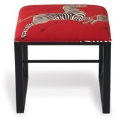The Well Appointed House Scalamandre Maison Medallion Black Single Bench- Le Zebra Rouge