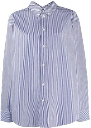 Balenciaga Striped Long-Sleeve Shirt