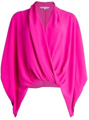 Trina Turk Concourse Kimono Sleeve Faux-Wrap Top