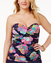 Anne Cole Plus Size Cactus Printed Tankini Top Women's Swimsuit