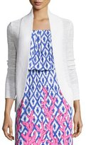 Lilly Pulitzer Amalie Long-Sleeve Open Cardigan, White