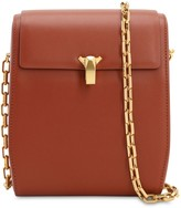THE VOLON PO BOX SMOOTH LEATHER SHOULDER BAG