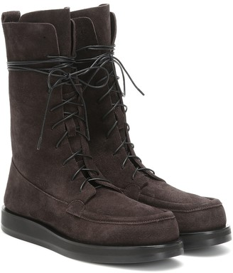 The Row Patty suede boots