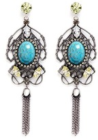 Anton Heunis Swarovski crystal vintage stone chandelier earrings