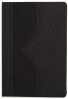 Ted Baker Black Brogue Small Notebook
