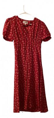 HVN Red Silk Dresses