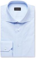Ermenegildo Zegna - Blue Cutaway-collar Checked Cotton-poplin Shirt