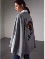 Burberry Beasts Appliqué Sweatshirt Cape