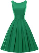 Bess Bridal Women's 50s Vintage Retro Solid Short Bridesmaid Party Dresses
