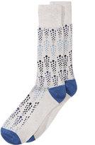 Perry Ellis Men's Heathered Geo-Dot Dress Socks