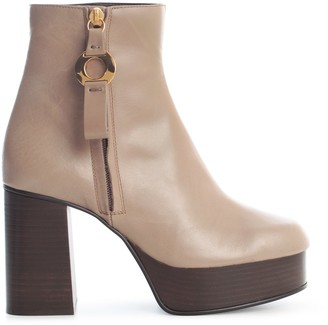 See by Chloe Block-Heel Ankle Boots