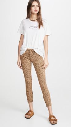 Frame Spring Cheetah Cargo Skinny Jeans