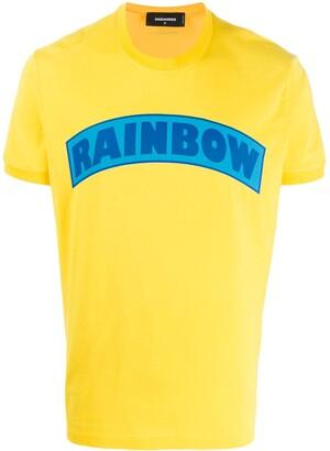 DSQUARED2 Rainbow print T-shirt