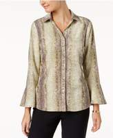 NY Collection Bell-Sleeve Blouse