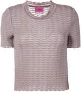 D'enia textured knit T-shirt