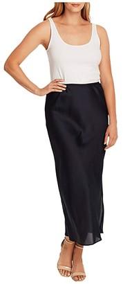 Vince Camuto Charmeuse Side Slit Maxi Skirt (Night Navy) Women's Skirt
