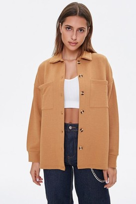 Forever 21 French Terry Patch-Pocket Jacket